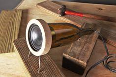 x Speaker using wine bottle www.retrash.com