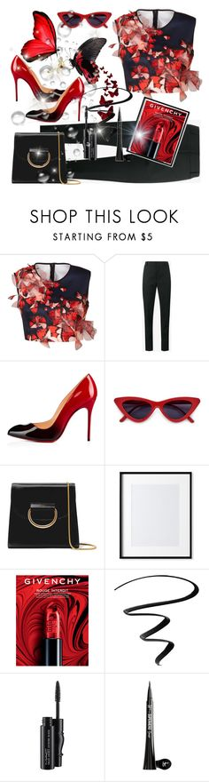 """""""Butterfly"""" by ladyscarlet01 ❤ liked on Polyvore featuring Clover Canyon, Yves Saint Laurent, Christian Louboutin, Little Liffner, Williams-Sonoma, Givenchy, Eyeko, MAC Cosmetics and It Cosmetics"""