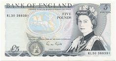 5 Pounds 1991 (EIIR - Wellington)  Großbritannien Königreich
