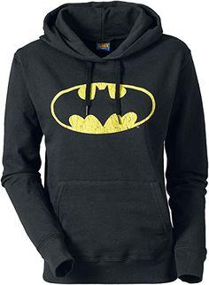 Batman Logo Girl-Kapuzenpulli schwarz S Bekleidung, Schwarz, Oberteile,  Strickjacke Für Frauen 7bdb2a707c