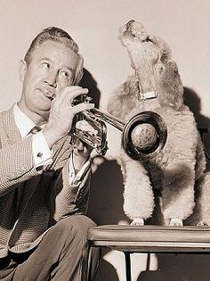 Clyde McCoy and a Poodle