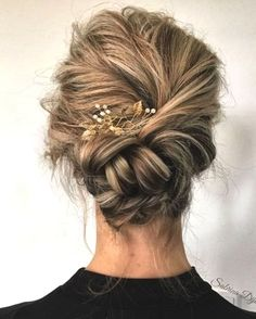 92 Drop-Dead Gorgeous Wedding Hairstyles For Every Bride To Be Beautiful wedding updo hairstyle ,messy updo wedding hairstyles ,chignon , braided updo hairstyles ,bridal updo Braided Hairstyles Updo, Braided Chignon, Hairstyle Ideas, Chignon Hairstyle, Bun Braid, Prom Hairstyles, Trendy Hairstyles, Updos With Braids, Classy Updo Hairstyles