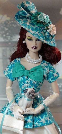 Pastel Blue Barbie |  Donnas Doll Designs