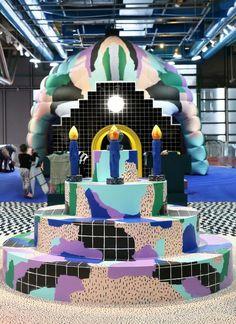 To celebrate the Centre Pompidou's fortieth anniversary, Paris-based studio GGSV have designed an interactive installation for children in the building's Galerie des enfants exhibition space. Exhibition Booth Design, Exhibition Display, Exhibition Space, Exhibit Design, Interactive Exhibition, Interactive Installation, Installation Art, Art Installations, Bühnen Design