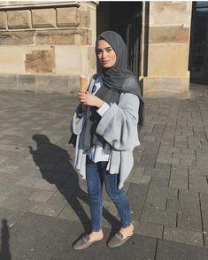 Modern Hijab Fashion, Street Hijab Fashion, Hijab Fashion Inspiration, Arab Fashion, Islamic Fashion, Muslim Fashion, Fashion Outfits, Hijab Casual, Hijab Chic