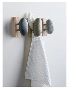 Sea Stones Coast Hook - Coat Hook - Hand Selected, Natural Stone Wall Hook with Elegant Wooden Backplate - Hang Your Coats, Towels, Robes & More with Both Indoors & Outdoor Uses Pack, Ash) Bathroom Towel Hooks, Zen Bathroom, Stone Bathroom, Bathroom Signs, Bohemian Bathroom, Rental Bathroom, Design Bathroom, White Bathroom, Bathroom Faucets