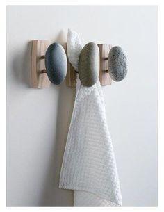 Sea Stones Coat Hooks Single, Ash Backplate | Free Shipping