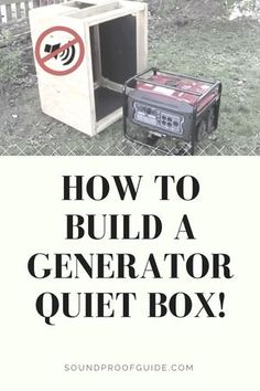 DIY How to Build a Generator Soundproof Enclosure. Generator Shed, Portable Generator, Emergency Generator, Power Generator, Diy Wood Projects, Woodworking Projects, Outdoor Projects, Soundproofing Walls, Soundproof Box