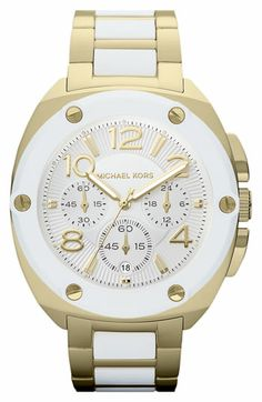 Michael Kors 'Tribeca' Chronograph Bracelet Watch available at #Nordstrom. want in pink and gold and turquoise and gold