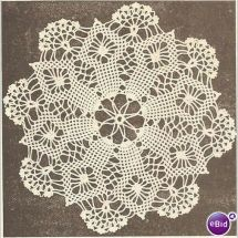 Crochet Doily Pattern Spider Web Listing in the Crocheted Doilies,Knitting & Crochet,Needlework,Crafts, Handmade & Sewing Category on eBid United Kingdom Crochet Patterns Filet, Crochet Snowflake Pattern, Crochet Flower Patterns, Tatting Patterns, Crochet Designs, Thread Crochet, Crochet Crafts, Crochet Projects, Crochet Placemats