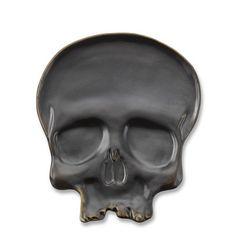 Halloween Skull Plates, Set of 4