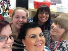 We're always busy, but never too busy to take a group selfie!