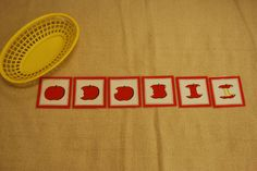 Sequence cards and lots of Montessori language activities