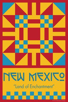 NEW MEXICO quilt block. Ready to sew. Single 4x6 block $4.95.