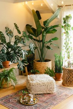 Find a small room or quiet corner to create a meditation space. With the proper pouf, an array of calming essentials and a collection of real or faux plants, you'll always be a step away from serene escape. Our Indoor Plants Inspiration Page can help you find the look that's most calming for you. #worldmarket #selfcare #meditate