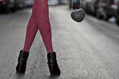 zohara - Art on tights!  - I love you mom <3