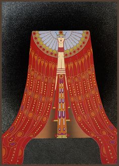 Erte Art Deco Fashion Illustration / Costume Design