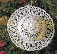 Victorian Hat Ornament - crochet directions