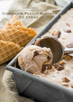 No Churn Chocolate Peanut Butter Ice-Cream