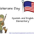 This is a great packet to teach students about Veterans Day.    There are two versions included in this bundle:  100% Spanish and 100% English.  It...