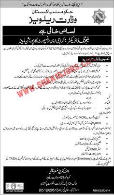 Ministry Of Railways Govt Of Pakistan Jobs March 2020 Company Job, Job Portal, Jobs In Pakistan, Last Date, Online Jobs, Ministry, March, Mac, Mars
