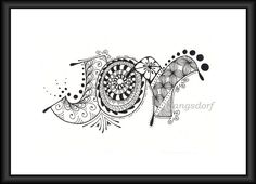 what joy - lettering and zentangle