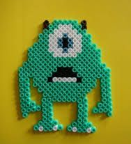 Awesome Monsters Inc. perler bead idea