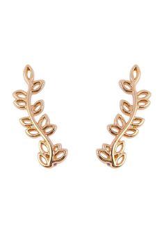 Leaf Crawler Earrings
