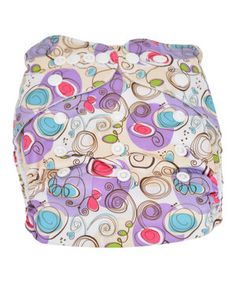 Curious crawlers will be leak-free when sporting this precious pocket diaper. Rows of snap buttons ensures growing little ones always get a perfect fit, while a super-soft microfleece lining ensures optimal comfort and durability. The two included inserts are crafted from four layers of antibacterial polyester and can easily be tucked into the elastic-lined opening for extra absorbency. When a mess is made, just toss both the diaper and insert into the wash to reuse again.