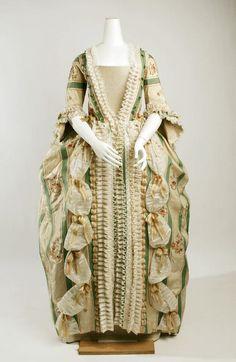 Robe à la Française, French ca. 1750-1775 silk