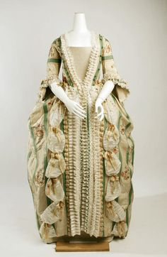 Robe à la Française, French, ca. 1750-1775, silk