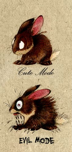 Bunny by Skia.deviantart.com  I adore this ~ all I can imagine is Anya from Buffy with her bunny hate LOL