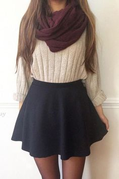 Who said you can't wear skirts in the winter? (Credit: Glaminati)