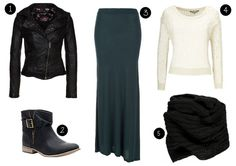 How to wear a maxi skirt in the autumn or winter