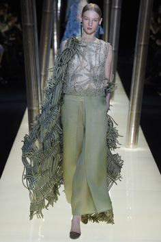 How many ways can bamboo influence a collection? Giorgio Armani Privé Couture Spring 2015 [Photo by Giovanni Giannoni]