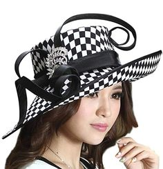 Details about Satin Black and White Kentucky Derby Dress Hat for Ladies Women Wedding Church - Hats - Hut Satin Formal Dress, Satin Dresses, Kentucky Derby Dress, Chloe, Ralph & Russo, Church Hats, Church Dresses, Wearing A Hat, Pumps