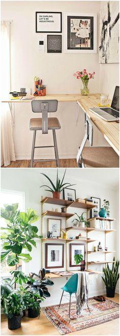 DIY escritorio. Ideas para fabricar tu propio escritorio. Visto en…