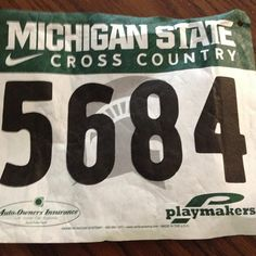 Oh my glob last year I never kepted my numbers and would u look at what I found cleaning my room today it's a sign, this week is my week guys I can feel it #michiganstate #run #lastyear #number #cc #xcnation #xc #training #meet #tworaces #thisweek #excited #nervous #lucky #medal #sign #followme #love #xc2012 #Padgram
