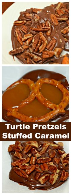Turtle Chocolate Pretzels and Butterfinger Pretzels stuffed