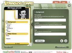 Create Trading Cards for Historical and Fictional Characters - The Web Version