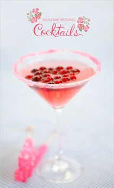 The Cranberry Cosmojito  1 oz. Daily's Mojito Mix  1 oz. Daily's Cosmopolitan Mix  1 1/2 oz Rum  Shake and strain into a chilled martini glass. Garnish with cranberries and line the rim with pink sugar. For an extra sweet treat add a rock candy stick as a stirrer.