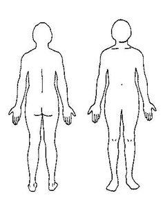 Body Outline Medical Examination Diagram Aromatherapy Silhouettes Silhouette