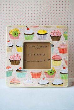 Happy Birthday Cupcake Frame by Mmim on Etsy --- gift idea.