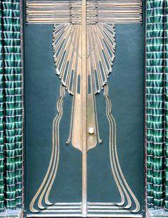 Art Nouveau door from Peter Behrens house in Darmstadt