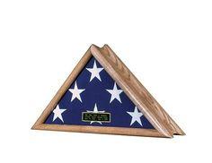 Patriot Flag Case – Real Oak Wood Flag Case   Flag Display Cases, Burial Flag Frames, Flag Medal