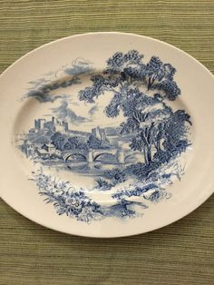 Vintage Wedgwood Blue Transfer Ware by PineStreetPickers on Etsy