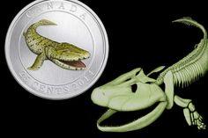 Prehistoric Creatures: Tiktaalik - Coloured Glow-in-the-Dark Coin