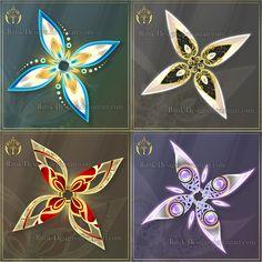 Shurikens adopts 7 (CLOSED) by Rittik-Designs on DeviantArt Ninja Weapons, Anime Weapons, Fantasy Weapons, Shuriken, Fantasy Jewelry, Fantasy Art, Weapon Concept Art, Deviantart, Fantasy Creatures