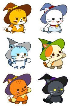모바일게임 고양이마법사 귀여운 고양이 캐릭터