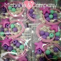 Mermaid DIY necklace kits in process....